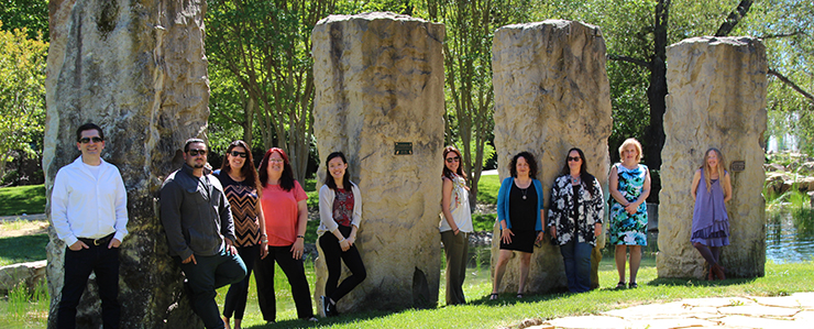Image of the Talent Acquisition Team in front of the new Scotts Valley Center