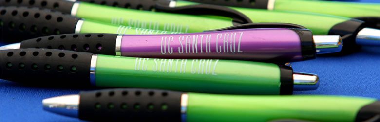 Photo of Pens that say UCSC